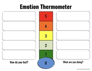 emotion thermometer worksheet