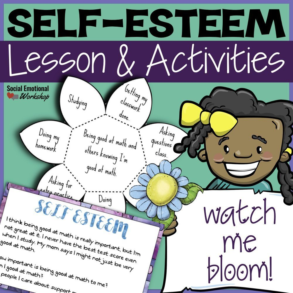 Self-Esteem Lesson & Activities Cover