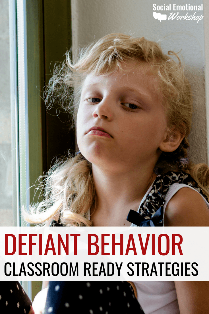 Defiant students can be challenging in a classroom. Preparing for defiant behavior, developing relationships with hard to reach students, and having a set of strategies to handle noncompliant behavior is key.