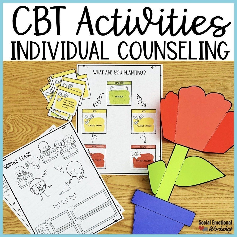 cbt activities and cbt worksheets for individual counseling and small group counseling.