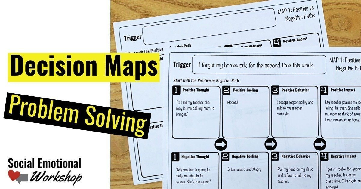 decision maps can help students work through problems in school counseling by take the problem solving process step by step.